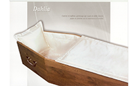 Capiton DAHLIA taffetas blanc piqûre de finition, oreiller inclus
