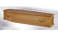Cercueil KIVIK Parisien Chêne plaqué chêne 27 mm (580€)