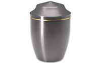 Urne en métal argent (65 €)