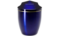 Urne en métal bleu (65 €)