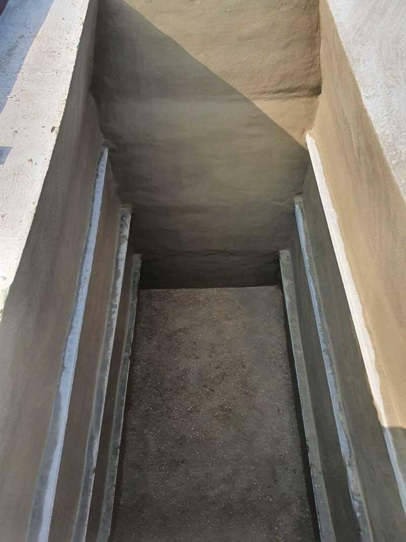 Photo d'un caveau vide